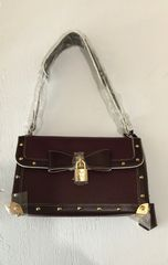 SOLD!! Burgundy Louis Vuitton Studded Handbag