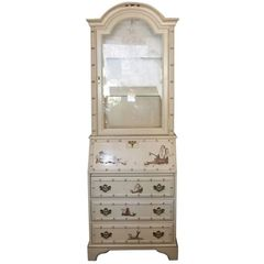 ON SALE NOW!! Petite Vintage Chinoiserie Secretary or Cabinet, 1950