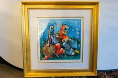 ON SALE NOW!! David Schluss Banjo Song 172/350 Serigraph- Fantastic Colors Signed