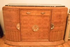 SOLD!1 Magnificent 1920's Art Deco French Buffet Exotic Burl Amboyna Wood - Marble Top