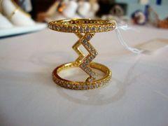 Swavorski and Silver .925 Zig Zag Ring