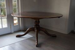 SOLD! Beautiful Swedish Gustavian Walnut Dining Table Snake Foot Antique Quality