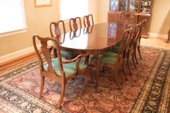 SOLD!! Dining Table and Chairs Two Leaves 10 Chairs