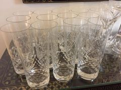 SOLD!! Set of 16 Baccarat Water Glasses