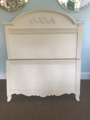 SOLD!! Hollywood Regency Style Twin Bed Frame