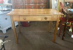 SOLD!! Vintage and Fabulous Petite Farm Table or Farm Desk -- French Country Charmer