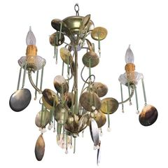 SOLD!! Eye-Catching Dazzler Coastal Chandelier Sea Shell's Around the World Sea Shell's