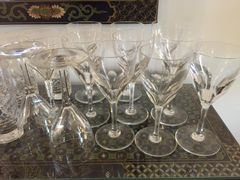 SOLD!!! Set of 16 Baccarat Genova Style Red Wine Glasses