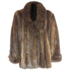 SOLD!! Long Haired Beaver Jacket, Beautiful Colors, Great Condition