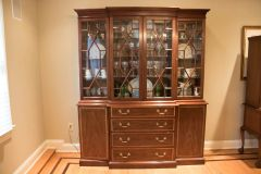 ON SALE NOW!! Stunning! Henkel Harris China Cabinet/ Breakfront Mahogany Silver Liner Drawer