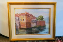 ON SALE NOW!! Flint Reed Mid Century Mod Oil on Canvas Beautifully Framed - Museum Quality Art