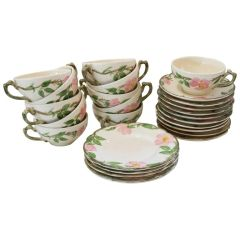 SOLD! Lunch'n w the Ladies Desert Rose Design Serving Ware Dish Set by Franciscan