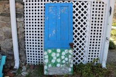 Knock, Knock A Work of Art! Hand Painted by Me! Blue and Daisy Old Wooden Door