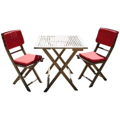 Bon Appétit! French Teak Bistro Indoor/Outdoor Folding Table and Chairs