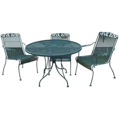SOLD!! Great Outdoor Set Mid-Century Modern Design Five-Piece Round Table Mesh