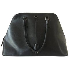 SOLD!! Black Beauty Prada Handbag with Key and Lock, Authentic Prada Leather Bag