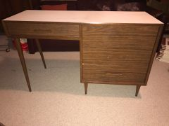 SOLD!! Walnut and Laminate Top Mid Century Desk - Possibly Knoll