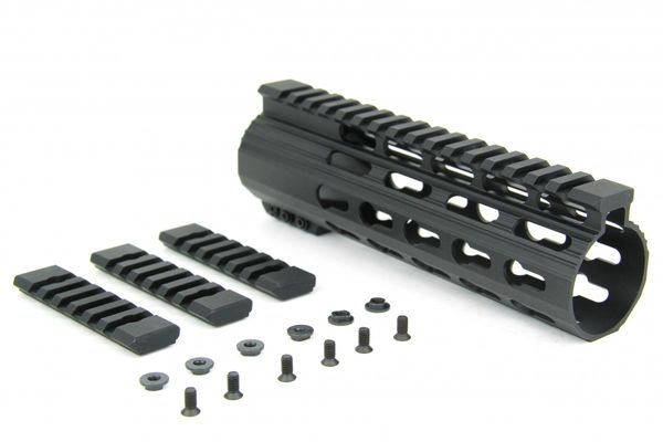 Ar10 Slim Keymod Free Float Clamp On Style Hand Guard Wdetachabl