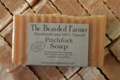 "Cedarwood, Lemongrass, & Vanilla ""Pitchfork"" Soap"