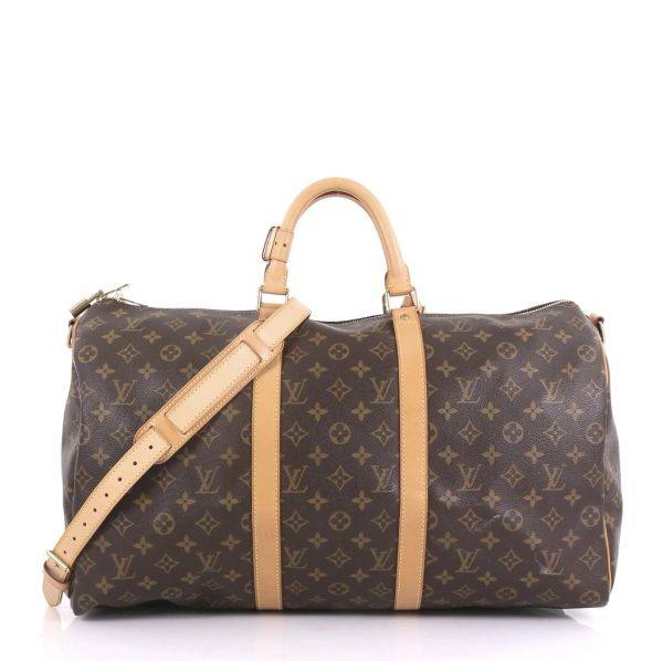 37aabcdc2c6a SOLD Louis Vuitton Duffle Keepall Bandouliere 50 Monogram Travel Bag ...
