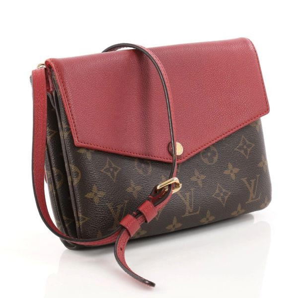 11c296af7 SOLD Louis Vuitton Twice Twinset Monogram Red Cross Body Bag ...