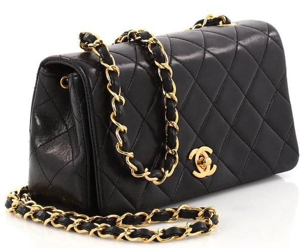 563c806b0682 SOLD Authentic Chanel Mini Classic Flap Lambskin Cross Body Bag ...