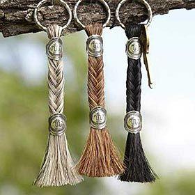 Seven-Strand Fishtail Horse Hair Key Chain  0b6a58424