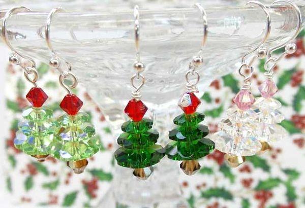 make take swarovski christmas tree earrings 121