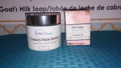 Luxury Rose Face Scrub w/ Beauty Bar