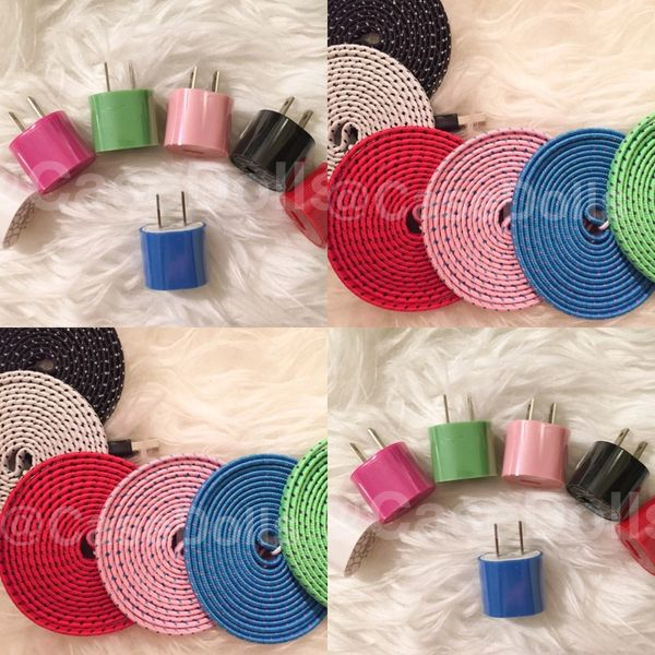 Single Port Wall Charger + 6 ft Braided Cord