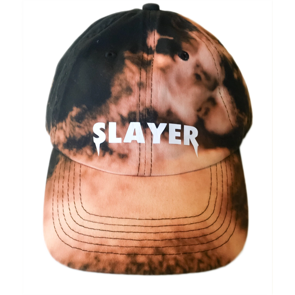 63442143936 Slayer Dad Hat - Bleached Black
