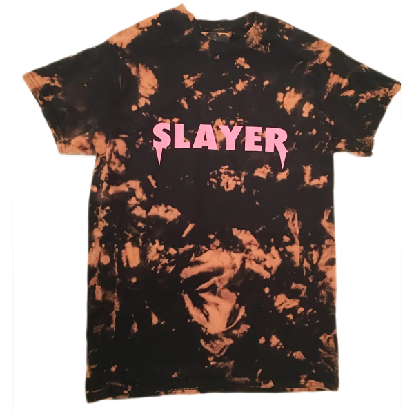 Slayer T-Shirt - Bleached Black Pink