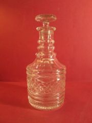 Antique Irish Crystal Decanters Irish cut crystal sherry/port decanter, ca. 1820.