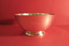 7-inch sterling Revere Bowl, ca. 1950.