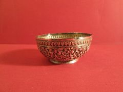 Indian silver bowl, with repoussé design overall, ca. 1860