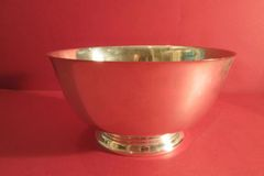 Sterling 8-inch Revere Bowl by Gorham & Co., ca. 1945, on round base.