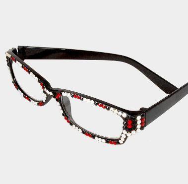 d96354572d Rectangular Red Black Clear - Rhinestone Glasses