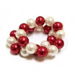 Stackable Red & White Bracelet