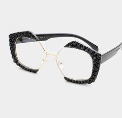 595cabbf3ab Rhinestone Octagon Black Fashion Glasses