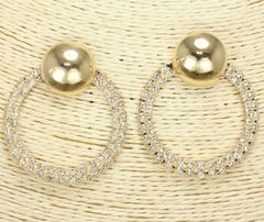 Post Gold Rhinestone Earrings