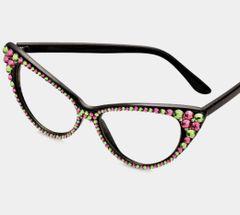 Fashion Clear Pink&Green/Black Frames