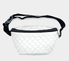 Quilted Fannie Pack-White