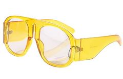 Clear Rim Oversized Shades-Yellow