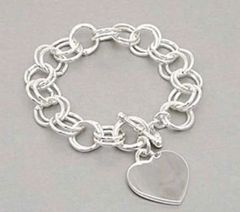 Heart Charm Link Bracelet