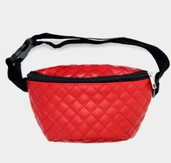 Quilted Fannie Pack-Red