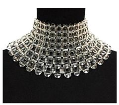 Cleopatra Clear Collar Necklace