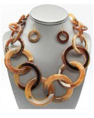Tortoise Necklace Link Necklace Set