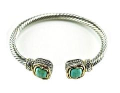 Inspired Cable Cuff Bracelet-TQ