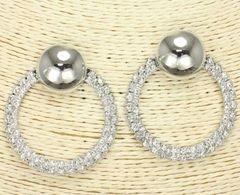 Post Silver Rhinestone Earrings