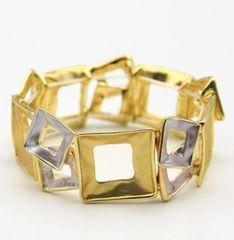 Stretch Gold/Silver Bracelet